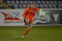 20190304 - LARNACA , CYPRUS : Finnish goalkeeper Anna Tamminen pictured during a women's soccer game between Finland and Korea DPR , on Monday 4 March 2019 at the Antonis Papadopoulos Stadium in Larnaca , Cyprus . This is the third game in group A for Both teams during the Cyprus Womens Cup 2019 , a prestigious women soccer tournament as a preparation on the Uefa Women's Euro 2021 qualification duels. PHOTO SPORTPIX.BE | STIJN AUDOOREN
