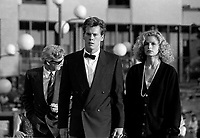 Montreal (Qc) CANADA - August 21, 1987 File Photo -<br /> Kevin Bacon, red carpet<br /> <br /> at 1987 world film festival<br /> <br /> photo (c) Pierre Roussel - Images Distribution