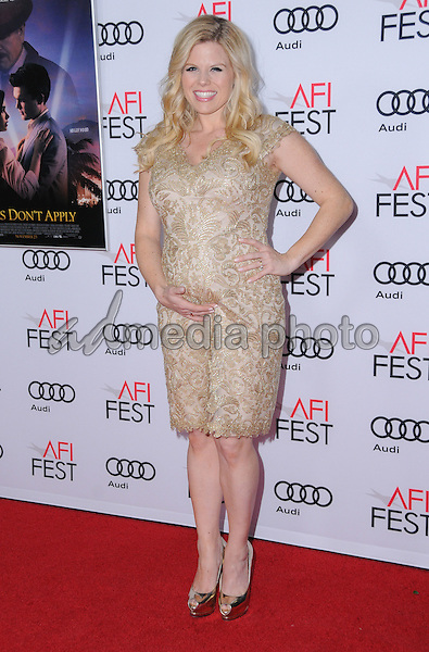 "10 November 2016 - Hollywood, California. Megan Hilty. AFI FEST 2016 - Opening Night Premiere Of ""Rules Don't Apply"" held at TCL Chinese Theater. Photo Credit: Birdie Thompson/AdMedia"
