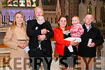 Baby Oskar with his parents Macied & Lidia Brzeszcz, Liselton and god parents Gabriela & Bartosz Szarek  who was christened in St. Mary's church, Listowel by Canon Declan O'Connor on Saturday last.