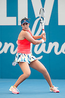 LOUISA CHIRICO of UNITED STATES OF AMERICA (USA) <br /> <br /> 2017 BRISBANE INTERNATIONAL, PAT RAFTER ARENA, BRISBANE TENNIS CENTRE, BRISBANE, QUEENSLAND, AUSTRALIA<br /> <br /> &copy; TENNIS PHOTO NETWORK
