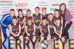 The Gaelscoil Aogain team that played Currow NS in the District NS boys junior A final on Tuesday evening in the St Marys Basketball blitz at Castleisland Community Centre front row l-r: Conor Mac Uilíaín, Redmond O Conchuír, Jack O Conaill, Evan O Murchu. Back row: Graham O'Connor coach, Finn O Nuallain, Jack O Geini, Rian O Duinneacha, Jer O Brosnacháin, Eoghan Shire, Billy Breathnach, Roisin Casey Miss Basketball
