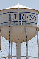 Water tower in El Reno Oklahoma, on historic Route 66.