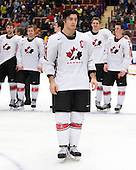 Kristopher Letang (Ste-Julie, QC - Foreurs de Val d'Or) was named a Media All-Star. Team Canada (gold), Team Russia (silver) and Team USA line up for the individual awards and team medal presentations following Team Canada's 4-2 victory over Team Russia to win the gold in the 2007 World Championship on Friday, January 5, 2007 at Ejendals Arena in Leksand, Sweden.