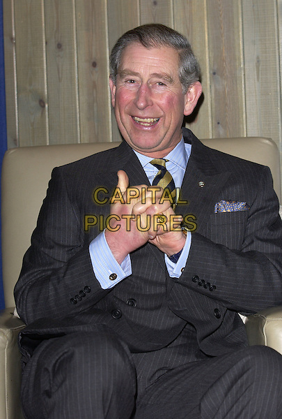 HRH PRINCE CHARLES.At The Prince's Trust Young Urban Music Talent Workshop, Trevor Horn's Sarm West Studios, London, .February 17th 2005..half length Prince of Wales Royal.Ref: FIN.www.capitalpictures.com.sales@capitalpictures.com.©Steve Finn/Prince's Trust/Capital Pictures.