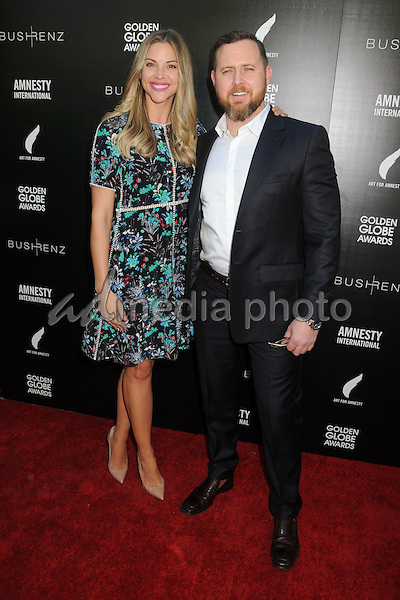 8 January 2016 - West Hollywood, California - Abigail Ochse, A.J. Buckley. 1st Annual Art for Amnesty Pre-Golden Globes Brunch held at Chateau Marmont. Photo Credit: Byron Purvis/AdMedia