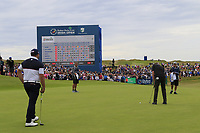 Eddie Pepperell (ENG) putts on the 18th green during Sunday's Final Round of the Dubai Duty Free Irish Open 2019, held at Lahinch Golf Club, Lahinch, Ireland. 7th July 2019.<br /> Picture: Eoin Clarke | Golffile<br /> <br /> <br /> All photos usage must carry mandatory copyright credit (© Golffile | Eoin Clarke)
