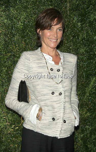 NEW YORK, NY - APRIL 22: Carey Lowell at the Chanel Tribeca Film Festival Artists Dinner at Balthazar on April 22, 2014 in New York City. Credit: RW/MediaPunch<br />