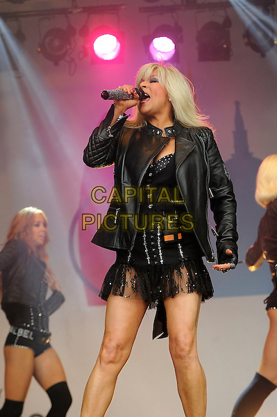 LONDON, UK, JUNE 28: Samantha Fox performs live on stage at Pride London in Trafalgar Square on June 28th 2014 in London, England, UK.<br /> CAP/MAR<br /> &copy; Martin Harris/Capital Pictures