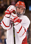 Kieffer Bellows (BU - 9) - The Harvard University Crimson defeated the Boston University Terriers 6-3 (EN) to win the 2017 Beanpot on Monday, February 13, 2017, at TD Garden in Boston, Massachusetts.