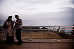 Couple on the Corniche in Beirut.<br /> <br /> Un couple sur la corniche, le soir &agrave; Beyrouth