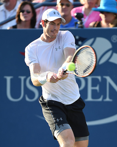 FLUSHING NY- SEPTEMBER 07: Andy Murray Vs Kevin Anderson on Louis Armstrong Stadium at the USTA Billie Jean King National Tennis Center on September 7, 2015 in Flushing Queens. Credit: mpi04/MediaPunch