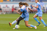 Chicago, IL - Saturday July 30, 2016: Sofia Huerta during a regular season National Women's Soccer League (NWSL) match between the Chicago Red Stars and FC Kansas City at Toyota Park.