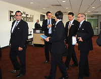 USA Bid Committee for the 2018 or 2022 FIFA World Cup entering FedEx Field  , Wednesday  September 8, 2010.