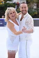 "Cheryl Baker and Dan Whiston<br /> at the ""Dancing on Ice"" launch photocall, natural History Museum, London<br /> <br /> <br /> ©Ash Knotek  D3365  19/12/2017"
