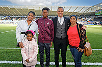 Club ambassador Lee Trundle with Academy youngster during the Sky Bet Championship match between Swansea City and Queens Park Rangers at the Liberty Stadium, Swansea, Wales, UK. Saturday 29 September 2018