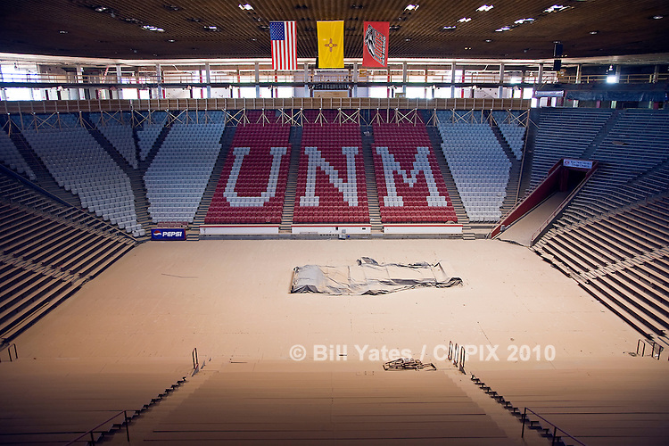"""The Pit"" basketball arena University of New Mexico under renovation"