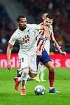 Victor Machin 'Vitolo' of Atletico de Madrid de Madrid and Dimitri Foulquier of Granada CF during La Liga match between Atletico de Madrid and Granada CF at Wanda Metropolitano Stadium in Madrid, Spain. February 08, 2020. (ALTERPHOTOS/A. Perez Meca)