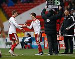 Martyn Woolford of Sheffield Utd is replaced by Stefan Scougill of Sheffield Utd - English League One - Sheffield Utd vs Coventry City - Bramall Lane Stadium - Sheffield - England - 13th December 2015 - Pic Simon Bellis/Sportimage-