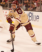 Luke McInnis (BC - 3) - The Boston University Terriers defeated the Boston College Eagles 3-1 in their opening Beanpot game on Monday, February 6, 2017, at TD Garden in Boston, Massachusetts.