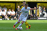 06.10.2018, Signal Iduna Park, Dortmund, GER, DFL, BL, Borussia Dortmund vs FC Augsburg, DFL regulations prohibit any use of photographs as image sequences and/or quasi-video<br /> <br /> im Bild v. li. im Zweikampf Marco Reus (#11, Borussia Dortmund) Daniel Baier (#10, FC Augsburg) <br /> <br /> Foto &copy; nph/Horst Mauelshagen