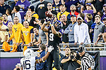 TCU Horned Frogs wide receiver Josh Doctson (9) in action during the game between the  West Virginia and the TCU Horned Frogs at the Amon G. Carter Stadium in Fort Worth, Texas.