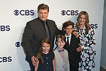 Left to right Lance Barber, Raegan Aleece Revord, Iain Armitage, Montana Jordan and Zoe Perry arrive at the CBS Upfront at The Plaza Hotel in New York City on May 17, 2017.