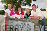Members of Listowel Table group at.Ballygologue Park, which won the.2007 Best Large Estate Award -.Clodagh OSullivan with Julie Gleeson,.Margaret OSullivan, Cllr Jackie Barrett.and Malcolm Payne.