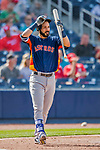 28 February 2017: Houston Astros first baseman Marwin Gonzalez in action during the Spring Training inaugural game against the Washington Nationals at the Ballpark of the Palm Beaches in West Palm Beach, Florida. The Nationals defeated the Astros 4-3 in Grapefruit League play. Mandatory Credit: Ed Wolfstein Photo *** RAW (NEF) Image File Available ***