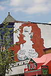 Washington DC; USA: Adams-Morgan neighborhood.  Mural on restaurant Madam's Organ in Adams-Morgan district, near 18th and Kalorama.  .Photo copyright Lee Foster Photo # 22-washdc82309