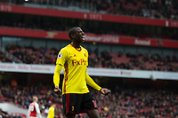 Watford's Abdoulaye Doucoure reacts to a missed chance <br /> <br /> Photographer Craig Mercer/CameraSport<br /> <br /> The Premier League - Sunday 11th March 2018 - Arsenal v Watford - The Emirates - London<br /> <br /> World Copyright &copy; 2018 CameraSport. All rights reserved. 43 Linden Ave. Countesthorpe. Leicester. England. LE8 5PG - Tel: +44 (0) 116 277 4147 - admin@camerasport.com - www.camerasport.com