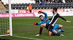 02.03.2019: St Mirren v Livingston: Ryan Flynn beats Liam Kelly to score the winner for St Mirren