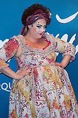 London, UK. 19 January 2016. Cirque du Soleil clown Gabriella Argento. Celebrities arrive on the red carpet for the London premiere of Amaluna, the latest show of Cirque du Soleil, at the Royal Albert Hall.