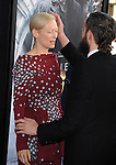 Tilda Swinton and Sandro Kopp attends The LOS ANGELES FILM FESTIVAL Opening Night Gala: SNOWPIERCER held at Regal Cinemas  in Los Angeles, California on June 11,2014                                                                               © 2014 Hollywood Press Agency