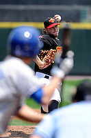 Rochester Red Wings pitcher Matt Maloney #17 delivers a pitch during a game against the Durham Bulls at Frontier Field on June 21, 2012 in Rochester, New York.  Durham defeated Rochester 14-8.  (Mike Janes/Four Seam Images)