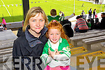 Ann Carey, Lauren Carey (Muckross Killarney). Kerry supporters at the Kerry Senior Football Team Media day at Fitzgerald Stadium on Saturday.