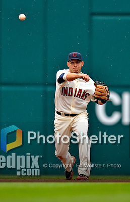 13 September 2008: Cleveland Indians' infielder Asdrubal Cabrera in action against the Kansas City Royals at Progressive Field in Cleveland, Ohio. The Indians fell to the Royals 8-3 in the first game of their rain delayed double-header...Mandatory Photo Credit: Ed Wolfstein Photo