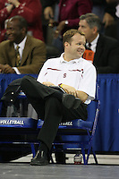 16 December 2006: Stanford Cardinal volunteer assistant coach Jason Dupler during Stanford's 30-27, 26-30, 28-30, 27-30 loss against the Nebraska Huskers in the 2006 NCAA Division I Women's Volleyball Final Four Championship match at the Qwest Center in Omaha, NE.