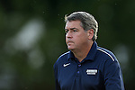 30 August 2013: Monmouth head coach Robert McCourt. The University of North Carolina Tar Heels hosted the Monmouth University Hawks at Fetzer Field in Chapel Hill, NC in a 2013 NCAA Division I Men's Soccer match. UNC won the game 1-0 in two overtimes.