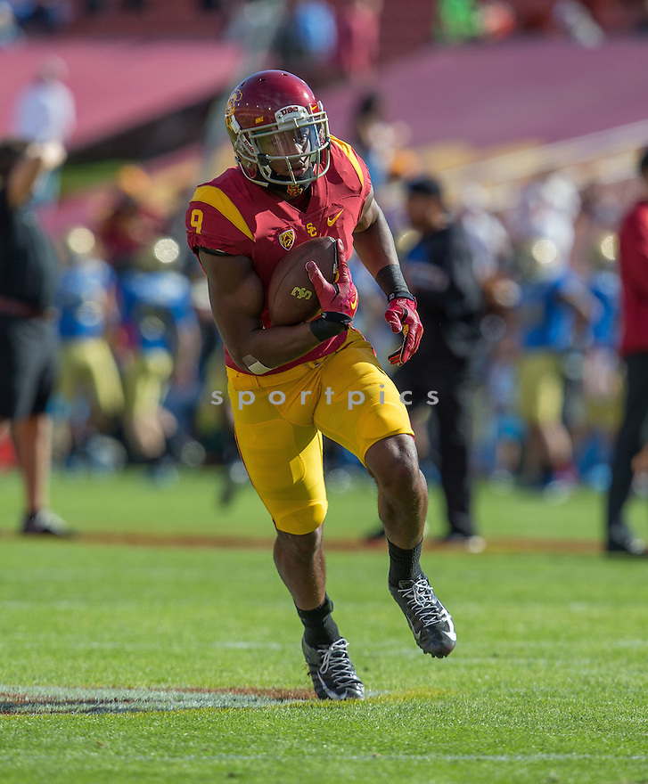 USC Trojans JuJu Smith-Schuster (9) during a game against the UCLA Bruins on November 28, 2015 at the Coliseum in Los Angeles, CA. USC beat UCLA 40-21.