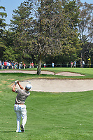 Justin Thomas (USA) chips on to 12 during round 1 of the World Golf Championships, Mexico, Club De Golf Chapultepec, Mexico City, Mexico. 3/1/2018.<br /> Picture: Golffile | Ken Murray<br /> <br /> <br /> All photo usage must carry mandatory copyright credit (&copy; Golffile | Ken Murray)
