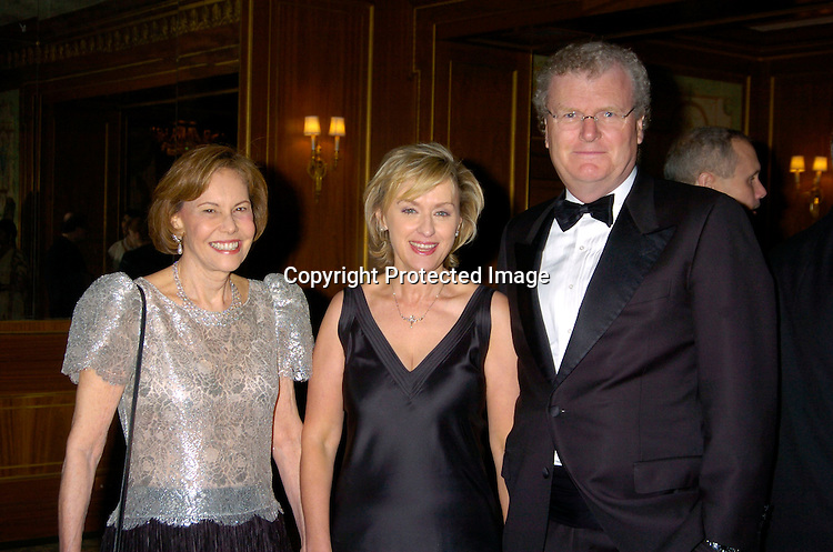 Barbara Goldsmith, Tina Brown and Sir Howard Stringer ..at the 2004 Pen Literary Dinner and the Presentation of Free Expression Awards  on April 20, 2004 at The ..Pierre Hotel in New York City. ..Photo by Robin Platzer, Twin Images