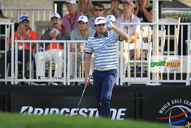 Keegan BRADLEY (USA) on the 1st tee to start his match during Saturday's Round 3 of the WGC Bridgestone Invitational, held at the Firestone Country Club, Akron, Ohio.: Picture Eoin Clarke, www.golffile.ie: 2nd August 2014