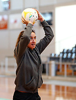10.10.2017 Silver Ferns Maria Tutaia in action during the  Silver Ferns training in Adelaide. Mandatory Photo Credit ©Michael Bradley.