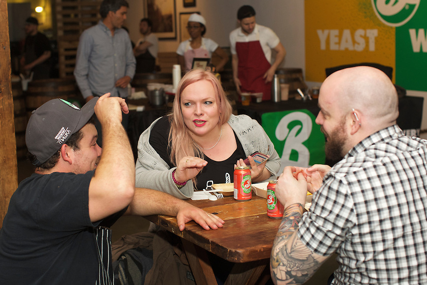 BROOKLYN, NY - May 4, 2016: Edible Brooklyn an the Brooklyn Brewery present a &quot;Beer-y Good Meal,&quot; an Italian-inspired Edible Feast, prepared by <br /> the Brewery's House Chef, Andrew Gerson. <br /> CREDIT: Clay Williams for Edible Brooklyn.<br /> <br /> &copy; Clay Williams / claywilliamsphoto.com