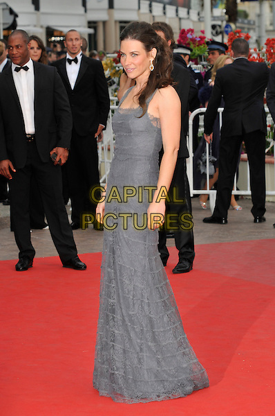 EVANGELINE LILLY.'La Princesse de Montpensier' premiere at the 63rd International Cannes Film Festival, Cannes, France, .16th May 2010..full length dress sleeveless side  grey gray lace long maxi dress .CAP/PL.©Phil Loftus/Capital Pictures.