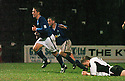 13/12/03          Copyright Pic : James Stewart.File Name : stewart006-ayr v st john.PAUL BERNARD (4) CELEBRATES AFTER HE SCORED THE FIRST....Payment should be made to :-.James Stewart Photo Agency, 19 Carronlea Drive, Falkirk. FK2 8DN      Vat Reg No. 607 6932 25.Office     : +44 (0)1324 570906     .Mobile  : +44 (0)7721 416997.Fax         :  +44 (0)1324 570906.E-mail  :  jim@jspa.co.uk.If you require further information then contact Jim Stewart on any of the numbers above.........