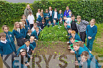 GROW YOUR OWN: Pupils and parents checking out the new vegetable patch at Nagle-Rice national school in Milltown on Thursday.