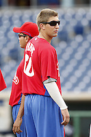 July 10, 2009:  Pitcher Colby Shreve of the GCL Phillies during a game at Bright House Networks Field in Clearwater, FL.  The GCL Phillies are the Gulf Coast Rookie League affiliate of the Philadelphia Phillies.  Photo By Mike Janes/Four Seam Images