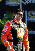 Nov. 16, 2008; Homestead, FL, USA; NASCAR Sprint Cup Series former champion Tony Stewart during the Ford 400 at Homestead Miami Speedway. Mandatory Credit: Mark J. Rebilas-